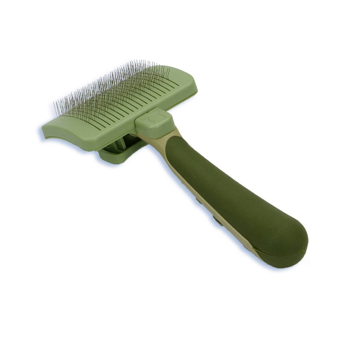 Safari Self-Cleaning Slicker Brush for Cats - Green