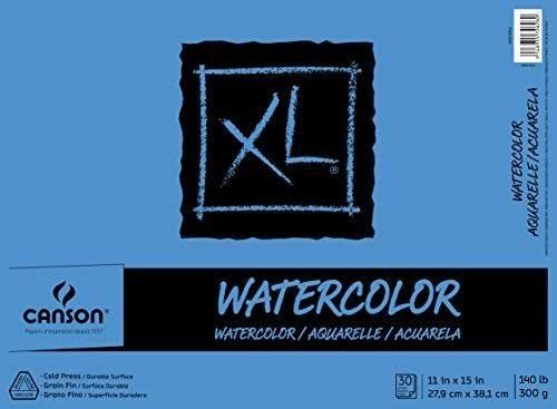 Canson XL Watercolor Pad - 140/300g, 18 x 24, 30 Sheets