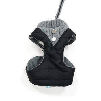 Dogo EasyGo Puffer Dog Harness - Black - X-Small