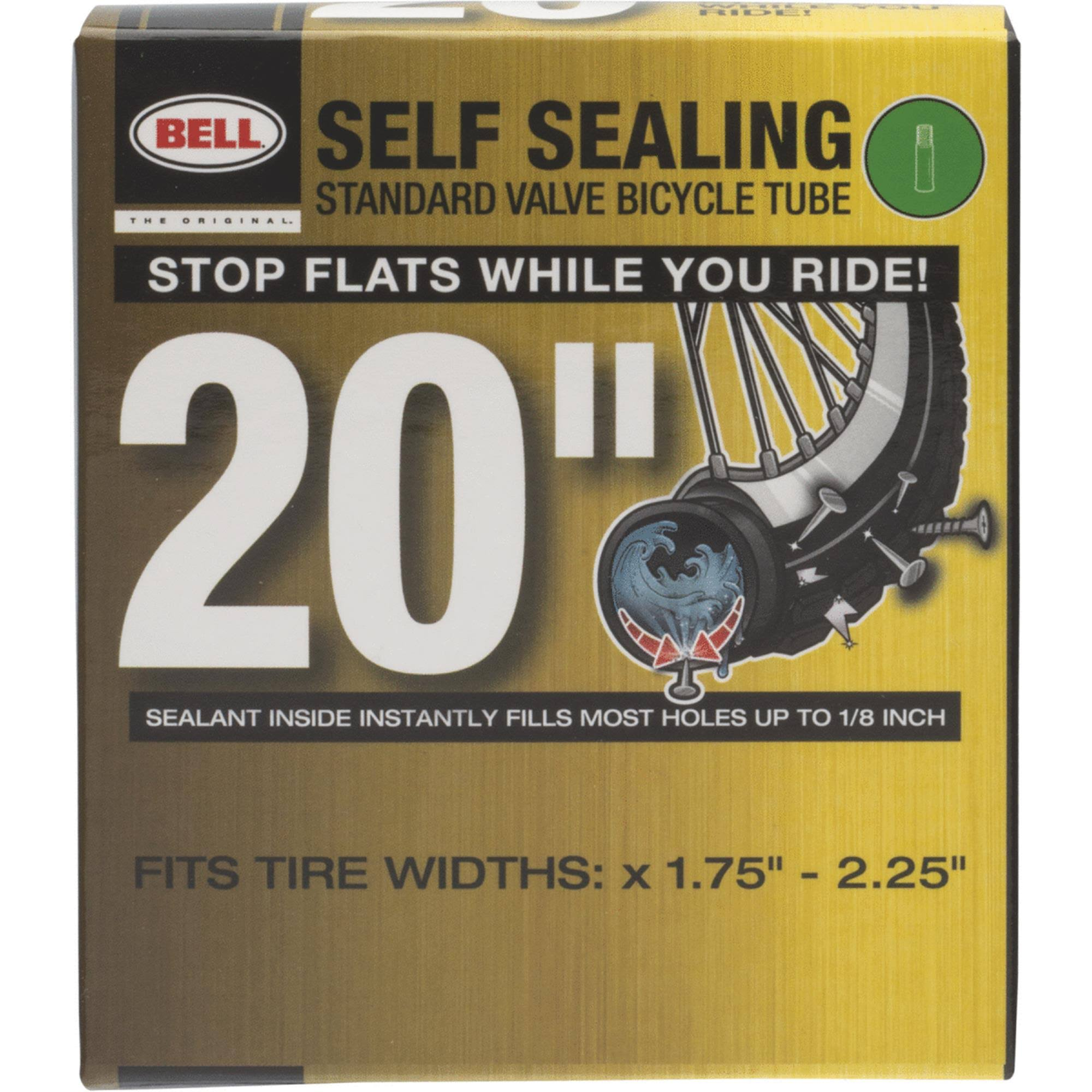 Bell 7015232 Self Sealing Bicycle Inner Tube - 20""
