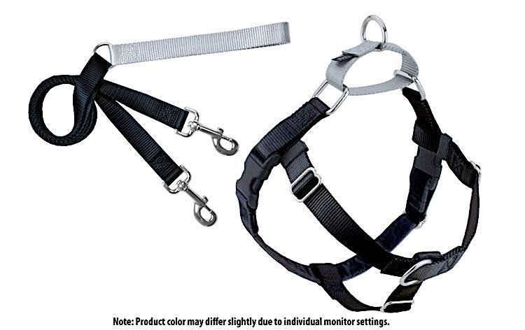 Freedom No Pull Dog Harness - with Leash, Black, X-Large