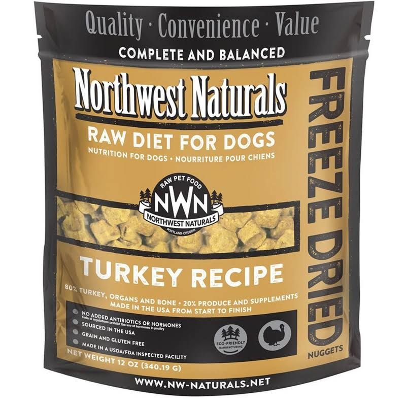 Northwest Naturals Raw Diet for Dogs - Turkey Recipe