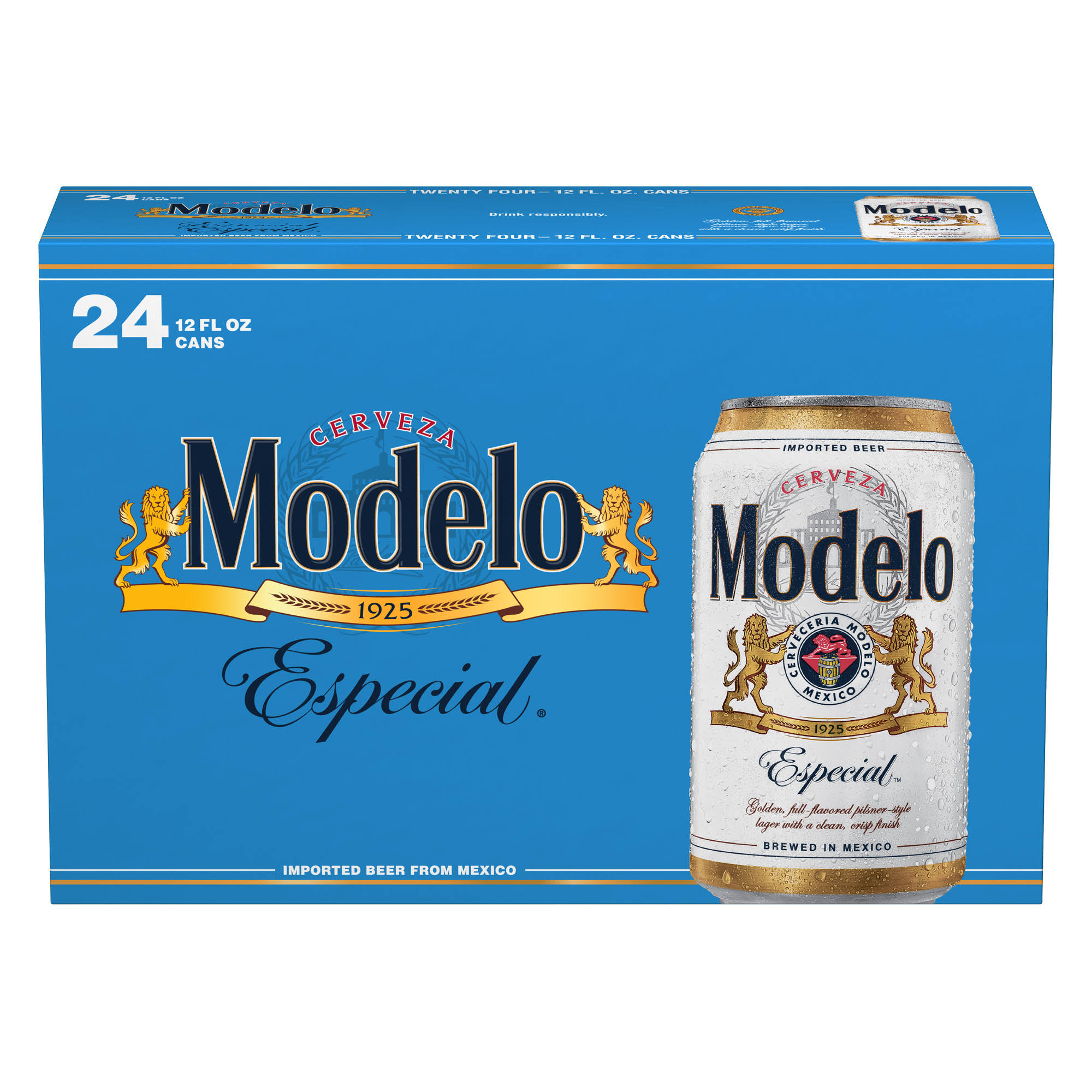 Modelo Especial Beer - 24 pack, 12 fl oz cans