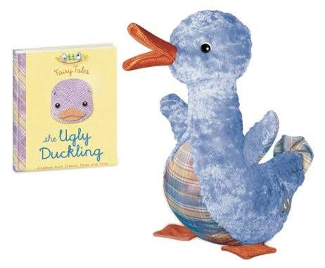 Yottoy Ugly Duckling Plush Toy - With Book
