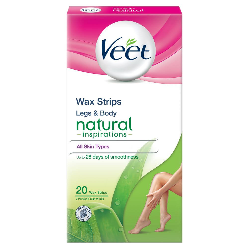 Veet Normal Skin Natural Inspiration Wax Strips - 20ct
