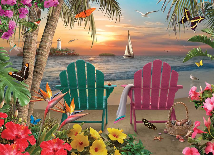 Island Paradise - 500pc Jigsaw Puzzle by Cobble Hill