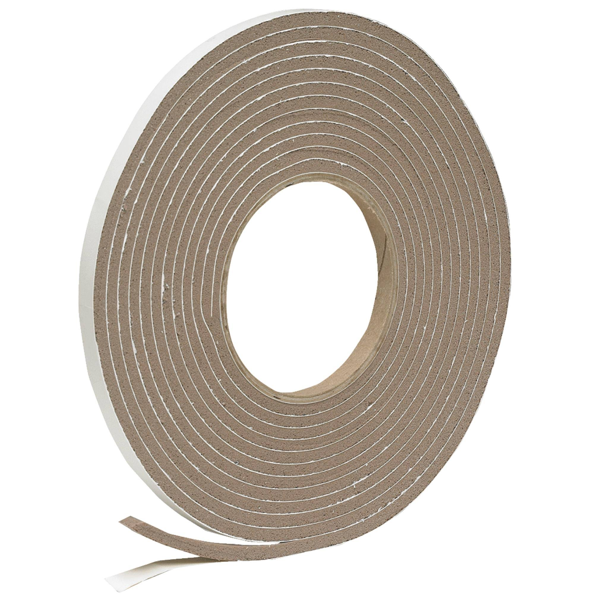 "Thermwell Products Vinyl Foam Weatherstrip Tape - Size 3/8""x3/16""x17'"