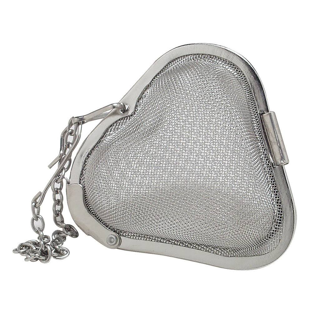 Accessories Infusers Mesh Heart Shaped Tea & Spice Infuser 2 inch, Stainless Steel 235104 OC, Men's, Size: Does Not Apply