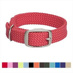 Mendota Products Double Braid Dog Collar, Red, 24-In