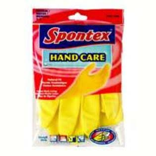 Spontex 69982 Hand Care Medium Latex Glove, Yellow