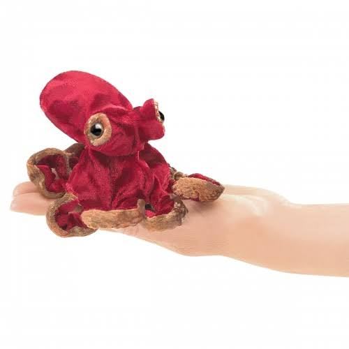 Folkmanis 2767 Mini Red Octopus Finger Puppet