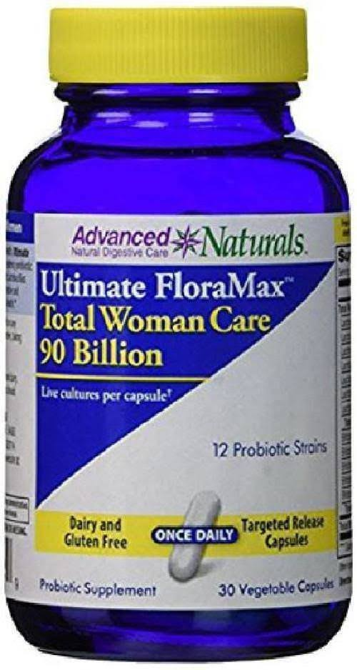 Advanced Naturals Ultimate Floramax Total Woman Care 90 Billion Probiotic Supplement - 30 Capsules