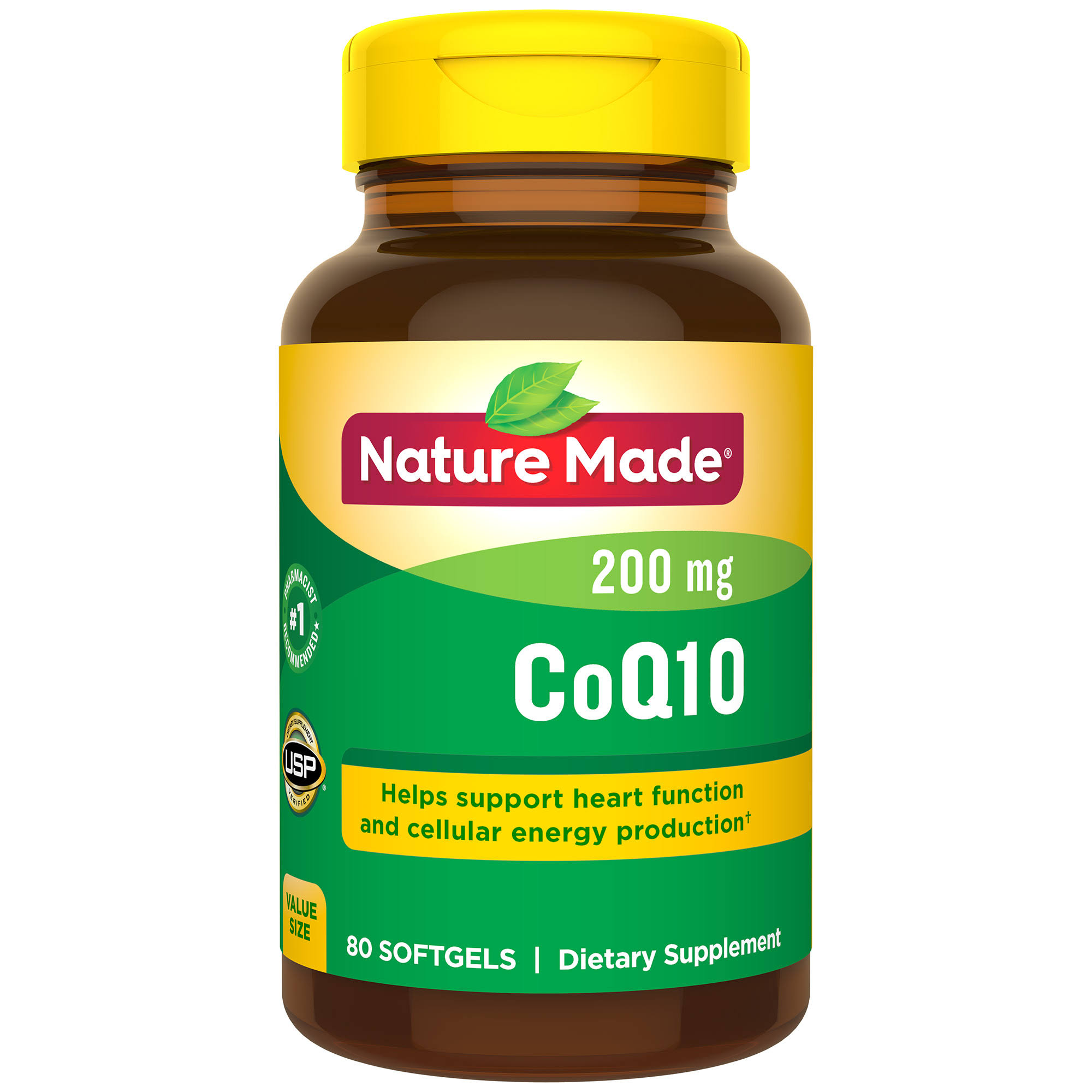Nature Made CoQ10 Supplement - Naturally Orange, 200mg, 200 Softgels