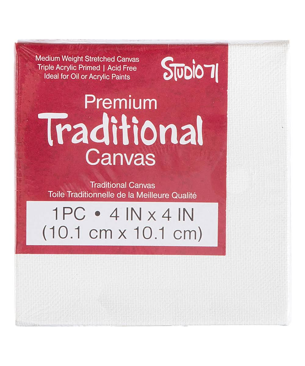 Studio 71 Stretched Canvas - 4 x Inches | 4 x 4 Inches | White