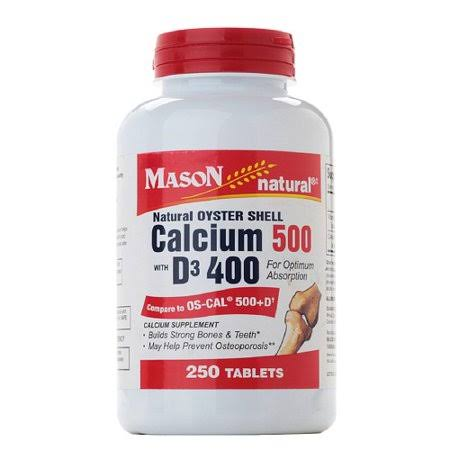 Mason Natural Oyster Shell Calcium Supplement - 250ct