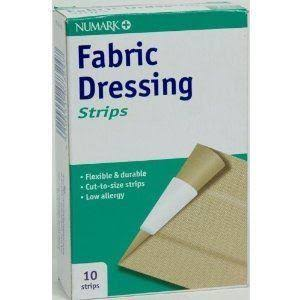 Numark Fabric Dressing Strips - 10ct