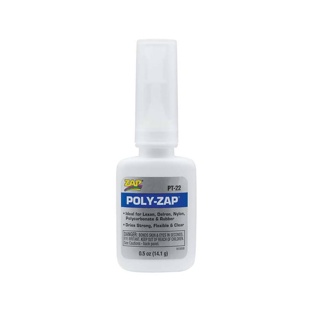 Pacer Technology PT22 Zap Poly Zap Adhesive - 1/2oz