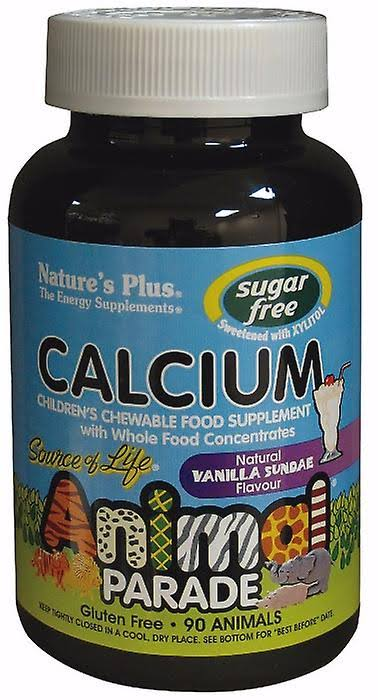 Nature's Plus Animal Parade Calcium Chewable Supplement - Natural Vanilla Sundae, 90 Animals