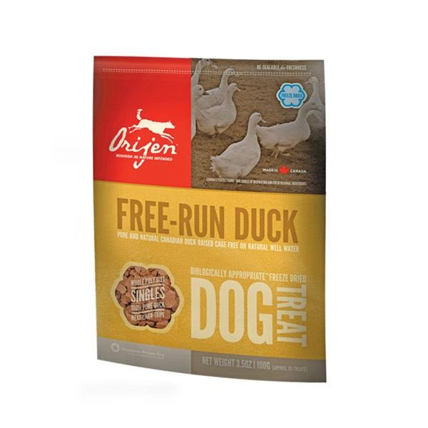 Orijen Free Run Duck Freeze Dried Dog Treats: 42.5g