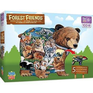 Masterpieces Forest Friends Shaped - 100 Piece Kids Puzzle