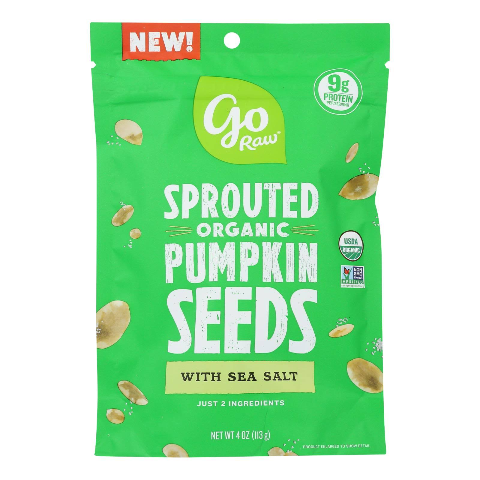 Go Raw - Sprouted Organic Pumpkin Seeds with Sea Salt