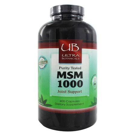 Ultra Botanicals MSM Joint Support 1000 mg. 400 Capsules
