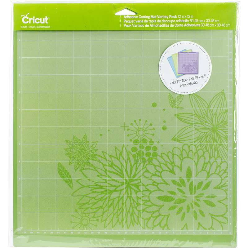 "Cricut Adhesive Back Cutting Mat - 12""x12"", Blue & Purple, x3"