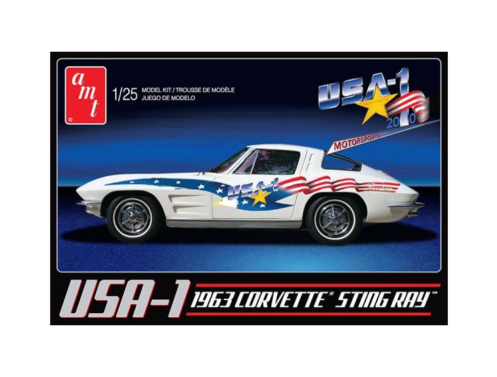 AMT AMT9091 1963 Chevy Corvette StingRay Plastic Model Kit
