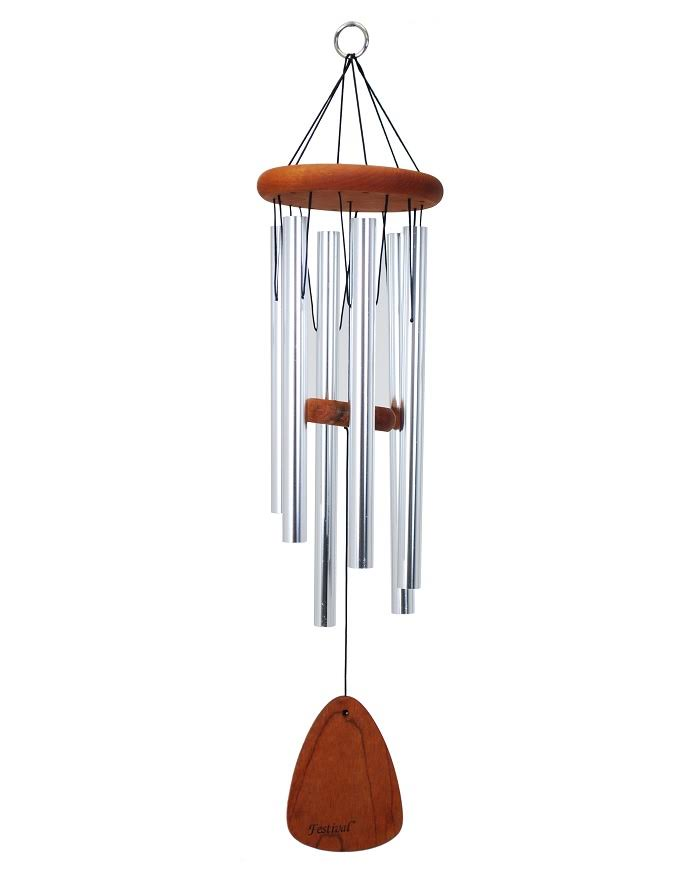 Festival 24 in. Wind Chime, Silver