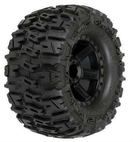 Pro-Line Trencher All Terrain Tires Mounted On Desperado Black Wheels - 2.8in