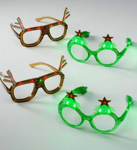 Hearthsong Light-Up Holiday Glasses