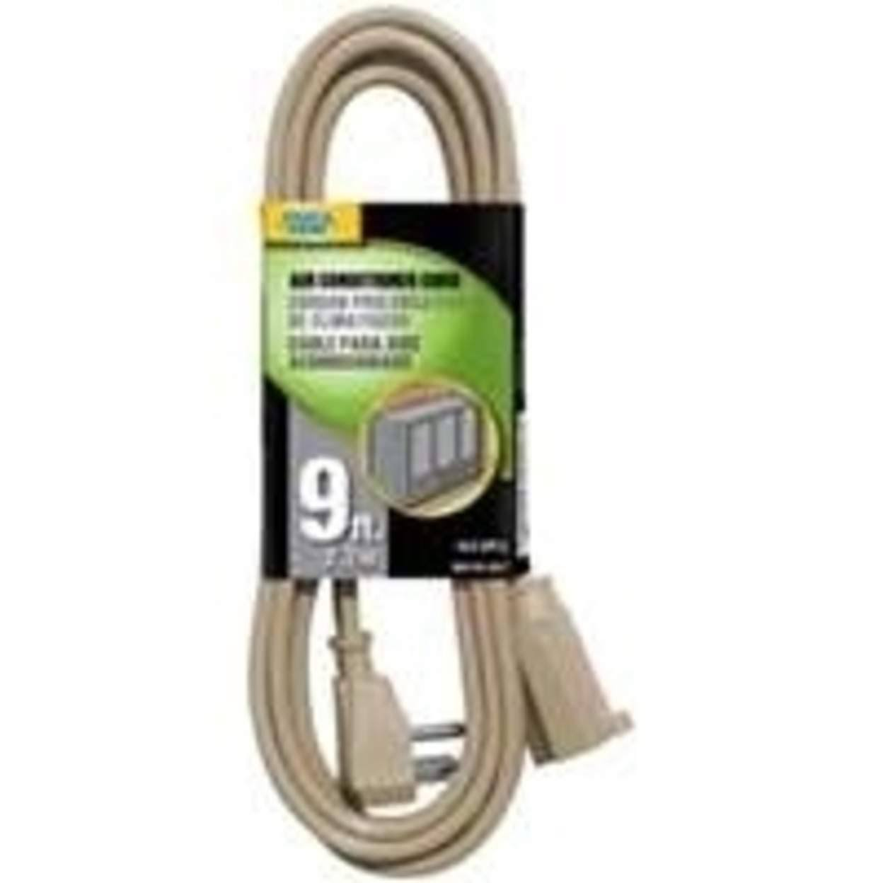 Power Zone AC Cord - Beige, 9ft