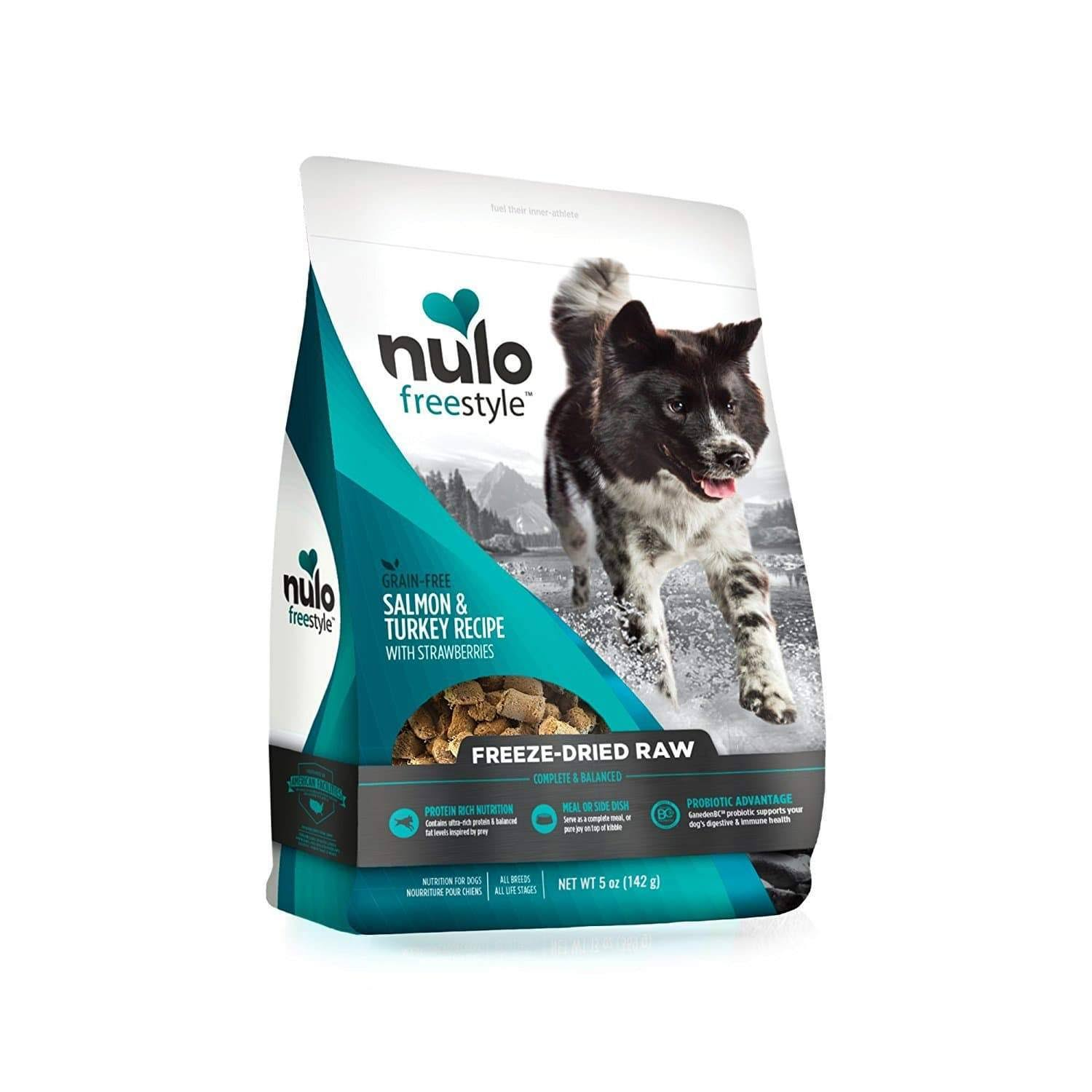 Nulo Freeze-Dried Raw Dog Food Salmon with Turkey 5 oz