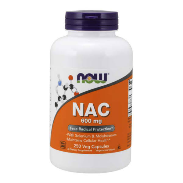 NOW Foods NAC - 600mg, 250 Veg Capsules
