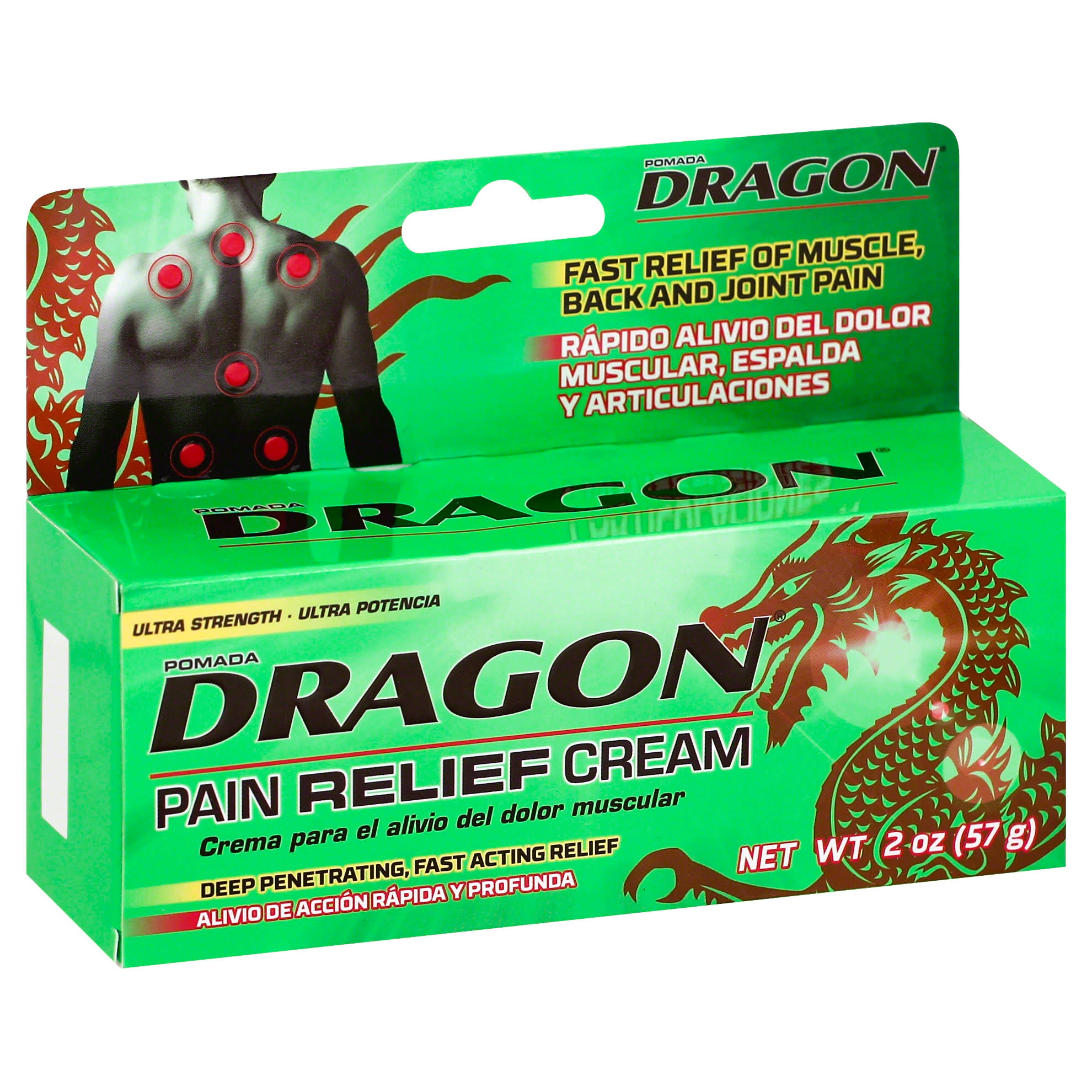 Pomada Dragon Pain Relieving Cream - Ultra Strength, 2oz