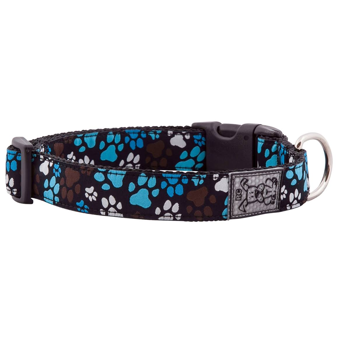RC Pet Products Adjustable Dog Clip Collar - Pitter Patter, Chocolate