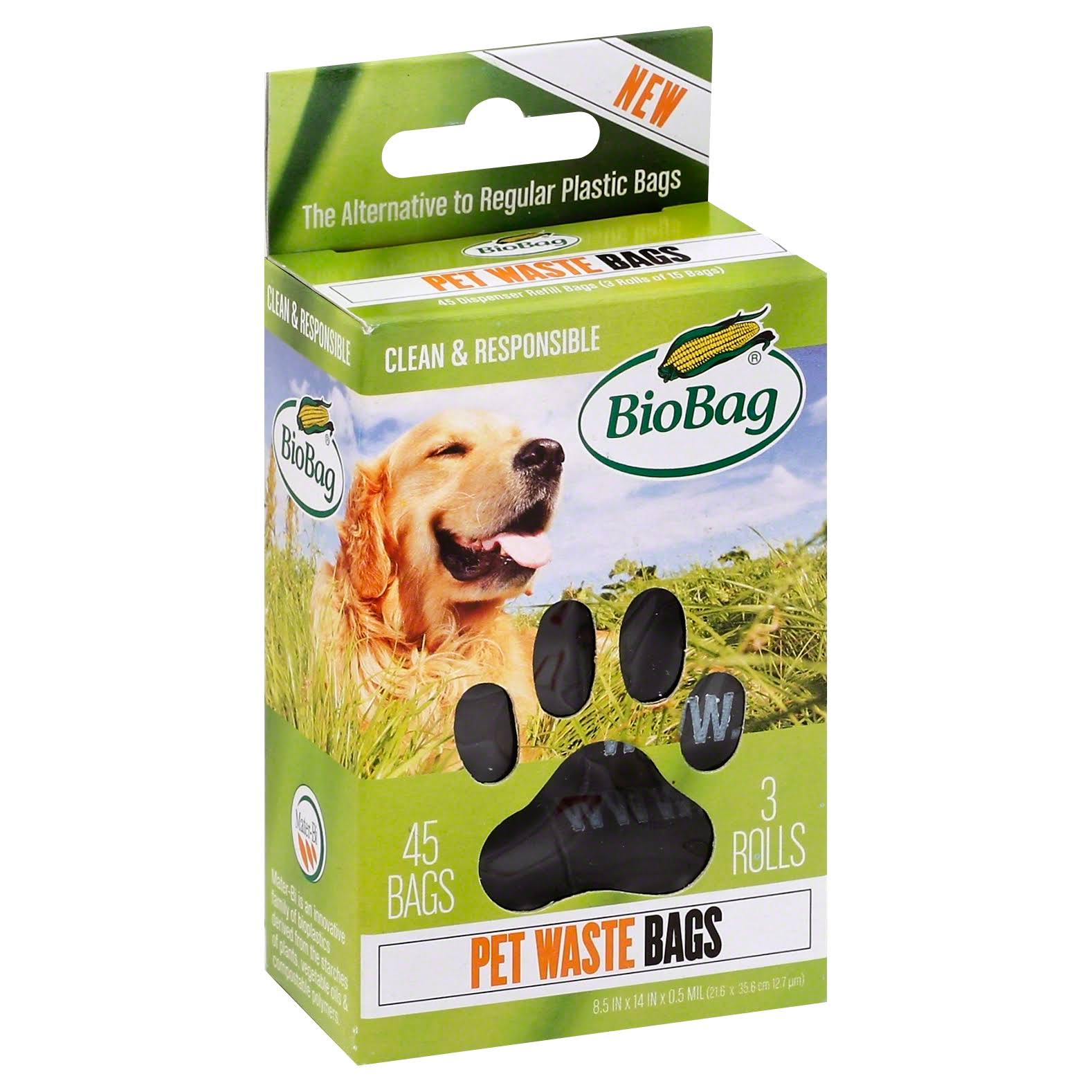 BioBag Dog Waste Bags on a Roll - 180 bags