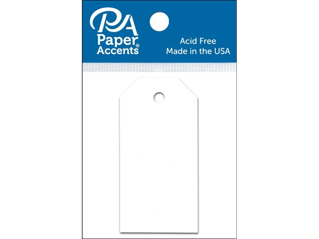 Paper Accents Craft Tags - White, 1.25in x 2.5in, 25pcs