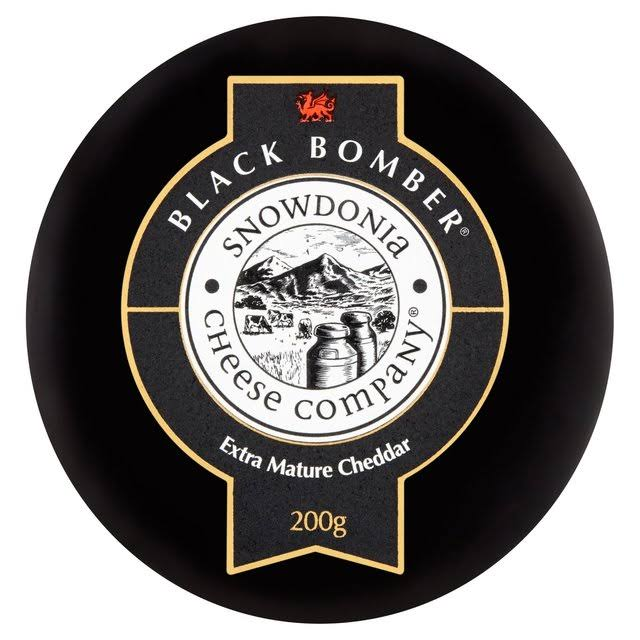 Snowdonia Cheese Company Black Bomber Cheese - Extra Mature Cheddar, 200g