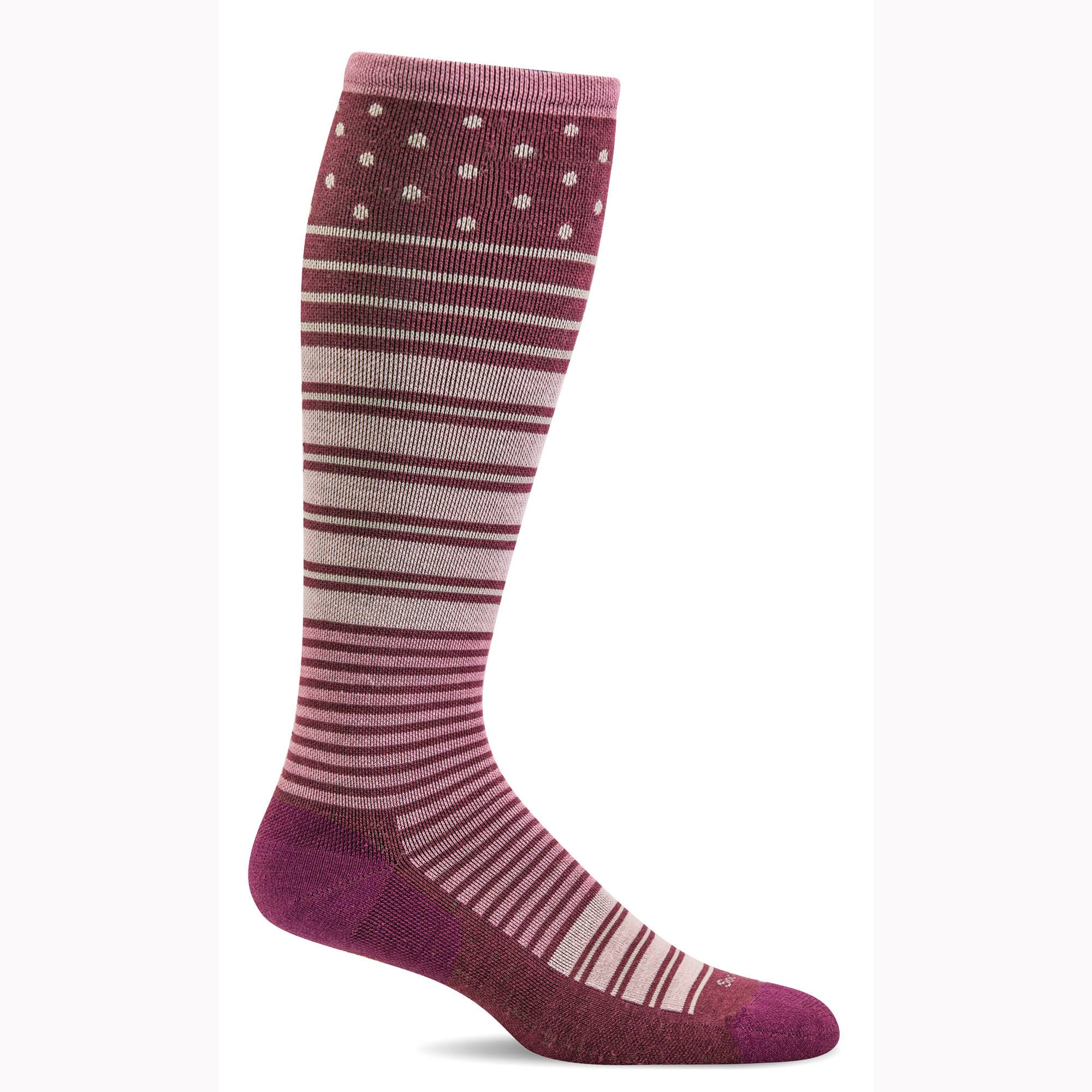 Sockwell Women's Twister Firm Compression Socks S/M / Mulberry