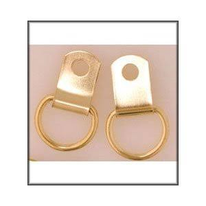 x 4 - Single Brass Plated D-Rings