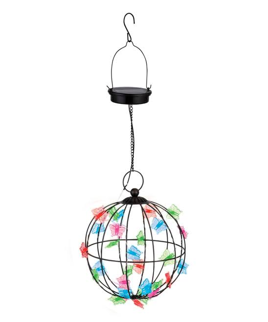 Grasslands Road Solar Lighting Solar Butterflies Hanging Orb One-Size
