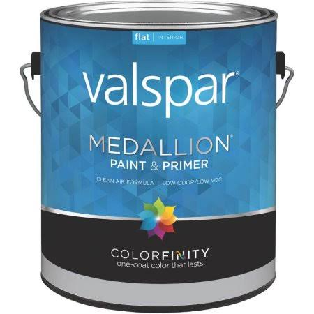 Valspar Medallion 100% Acrylic Interior Latex Flat Wall Paint - White