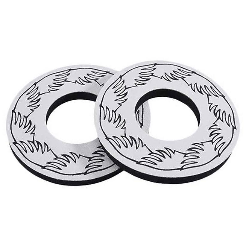 SE Racing Wing BMX Grip Donuts - White