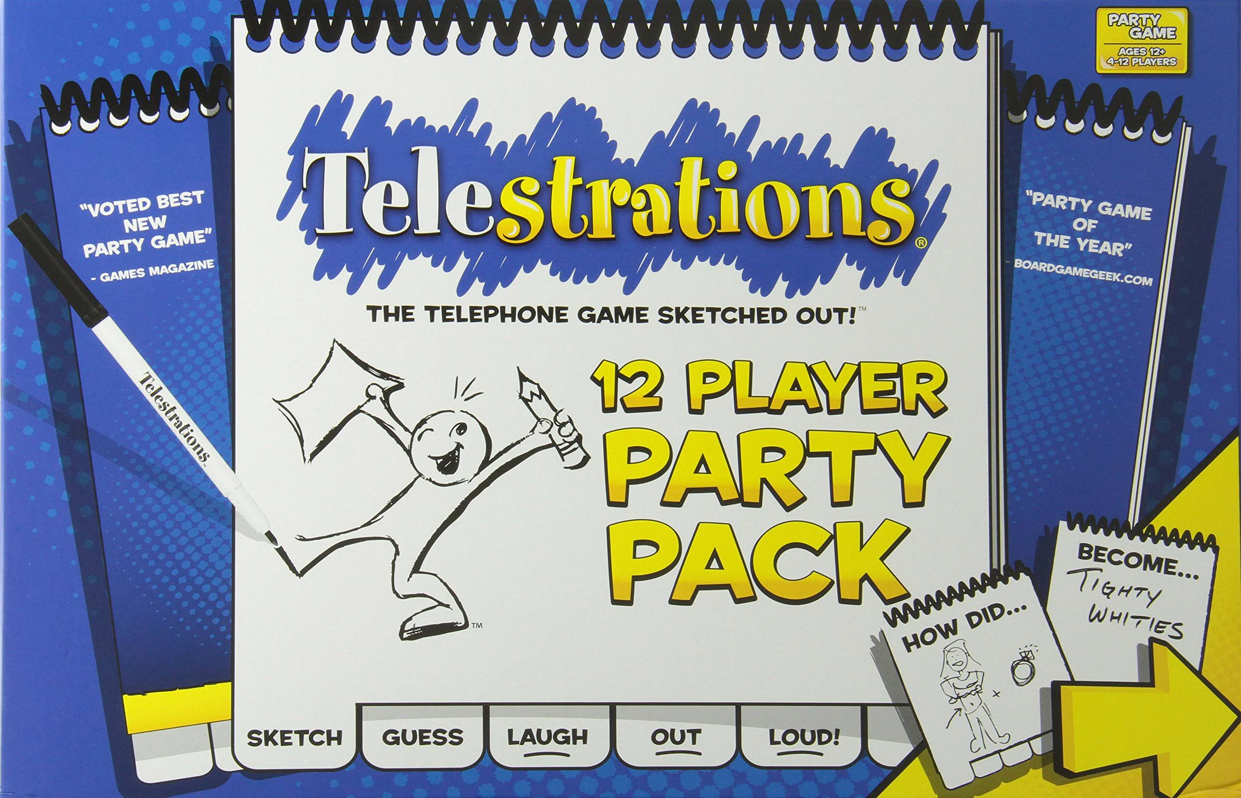 Telestrations Game - 12 Player Party Pack