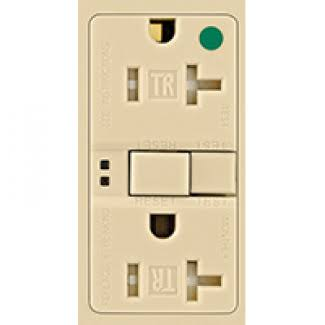 Cooper Wiring GFCI Self Test Duplex Receptacle - Ivory, 20 Amp