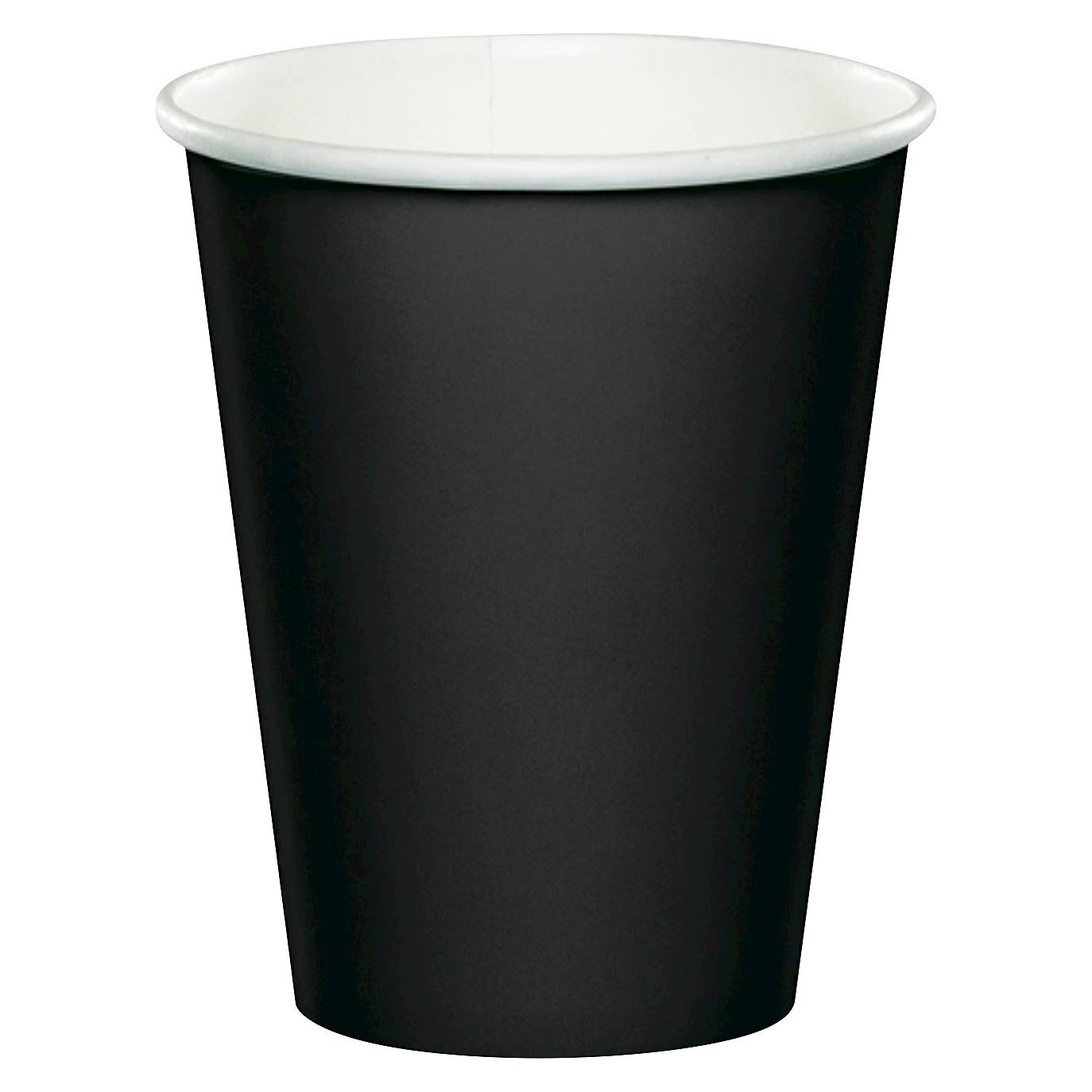 Creative Converting Velvet Paper Cups - Black, 9oz