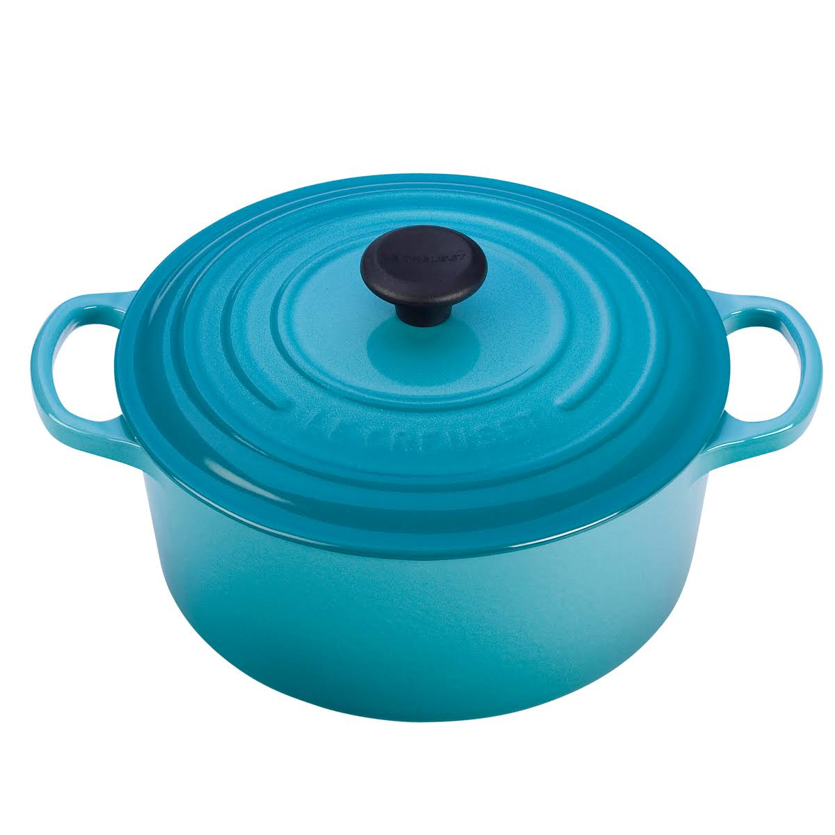 Le Creuset Enameled ast Iron Round French Oven - Caribbean, 3.5qt