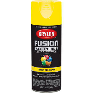 Krylon K02725007 Fusion Spray Paint Gloss Sunbeam 12 Ounce