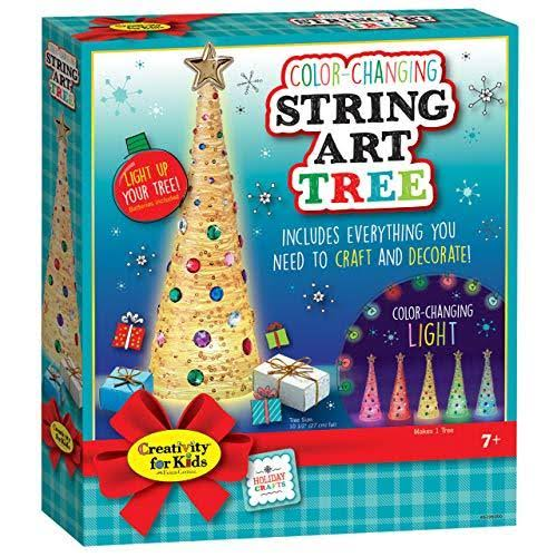 Creativity for Kids Holiday Color-Changing String Art Tree